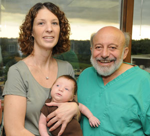 Dr. Silber with Amy Tucker and her son