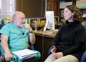 Amy reflects with Dr. Silber about why she feels fortunate she had cancer.