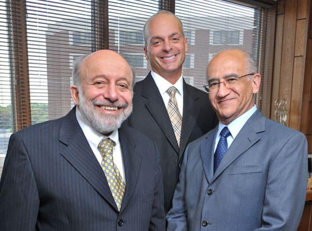 L to R: Sherman J. Silber, M.D.; Michael J. DeRosa, M.D.; and Jorge A. Pineda, M.D. of the Infertility Center of St. Louis.