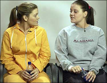 Melanie Morgan, right, donated an ovary to her twin sister Stephanie Yarber, in what's believed to be the first such transplant in the United States.