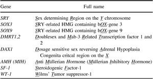 Full description of gene abbreviations.