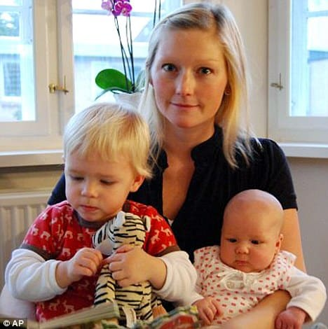 'Amazing': Stinne Holm Bergholdt, who was left infertile after suffering cancer, has pioneered a groundbreaking ovarian transplant treatment, which enabled her to give birth to three babies and could be used to stop the menopause